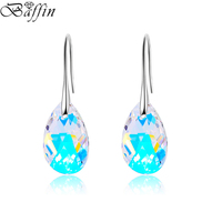 Free Shipping Dangle Water Drop Earrings Women Qian Se Elements Crystal Fashion Original Made With Pendant