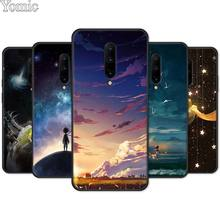 Little Prince Watercolor Art Soft Cover Shell for Oneplus 7 7 Pro 6 6T 5T Silicone Phone Case for Oneplus 7 7Pro Black Case