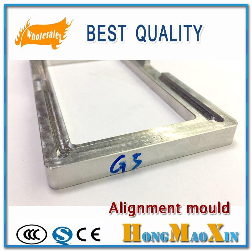 Posizione di Allineamento LCD Esterno In Vetro Stampo Supporto Per LG G2 G3 G5 pellicola OCA UV Colla Align Stampo di Alluminio del Metallo stampo