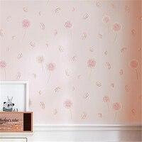Beibehang Wallpaper Pastoral Bedroom Small Clean Living Room Non woven Korean Wallpaper Children's Room Wallpaper Dandelion