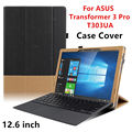 Case para asus transformer 3 pro tablet couro protetora smart cover para asus transformer t303ua 12.6 polegada pu protector sleeve