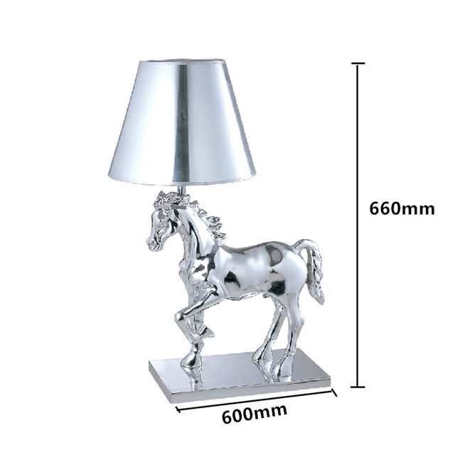 Online shop fumat pony table lamps fabric lampshade plating silver image aloadofball Gallery