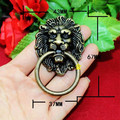 43 * 67MM beast head lion head antique drawer handle alloy handle wardrobe cupboard retro furniture handle home improvement