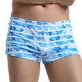 3pcs/lot 2015 New men's boxer underwear  ink painting  100% boxer cotton print loose trunk breathable lounge underwear 7 colors