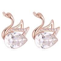 Kolczyki Swan zwierząt Projekt Stadniny Kolczyki Z Rzeczywistym Kryształ Projektant Znane Marki Kobiety Biżuteria 8 Kolory Duże Kryształowe Kolczyki