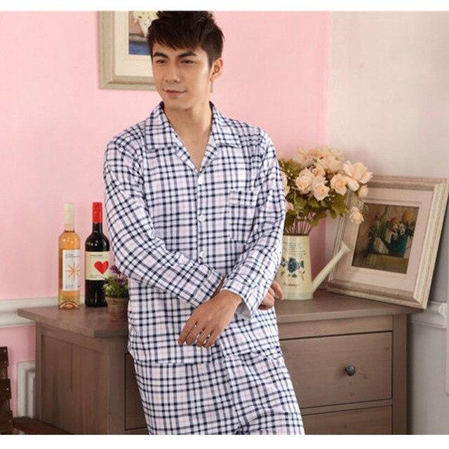 Новый Обмундирования Осени мужской Вязаный Хлопок Досуг Пижамы Костюмы Обязуется Досуг Пижамы