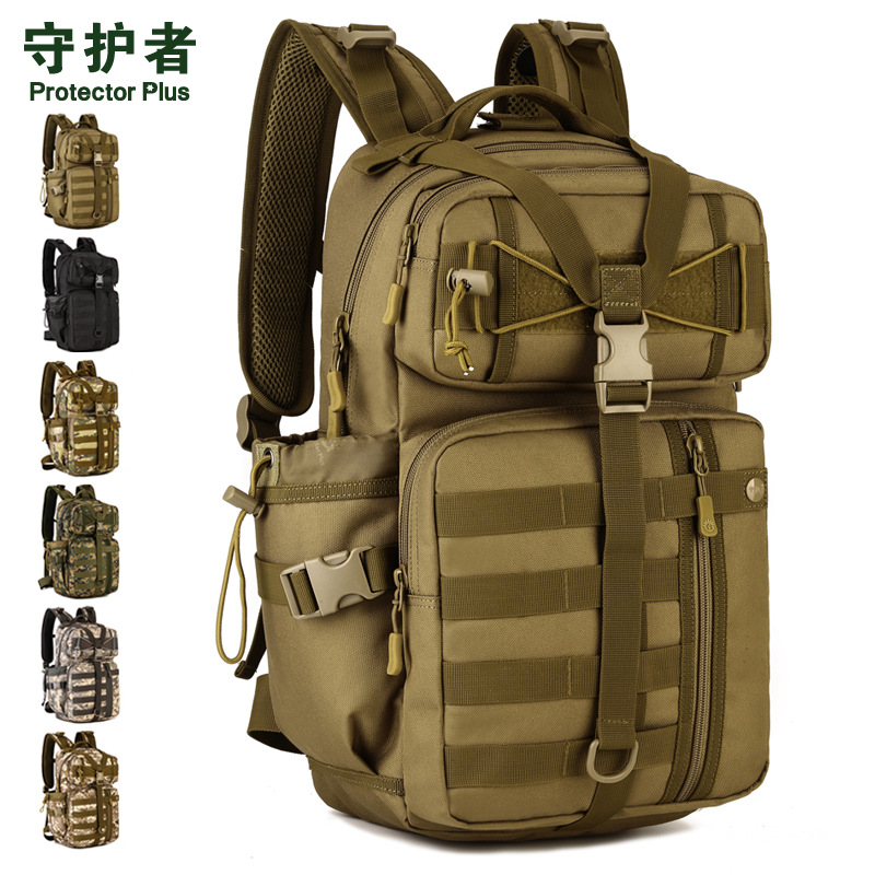 30 Liters Attack Backpack <font><b>Outdoor</b></font> Tactical Backpack Army Fans Fans Camouflage Shoulder <font><b>Bag</b></font> Travel <font><b>Bag</b></font> Mountaineering <font><b>Bag</b></font> A2674~1
