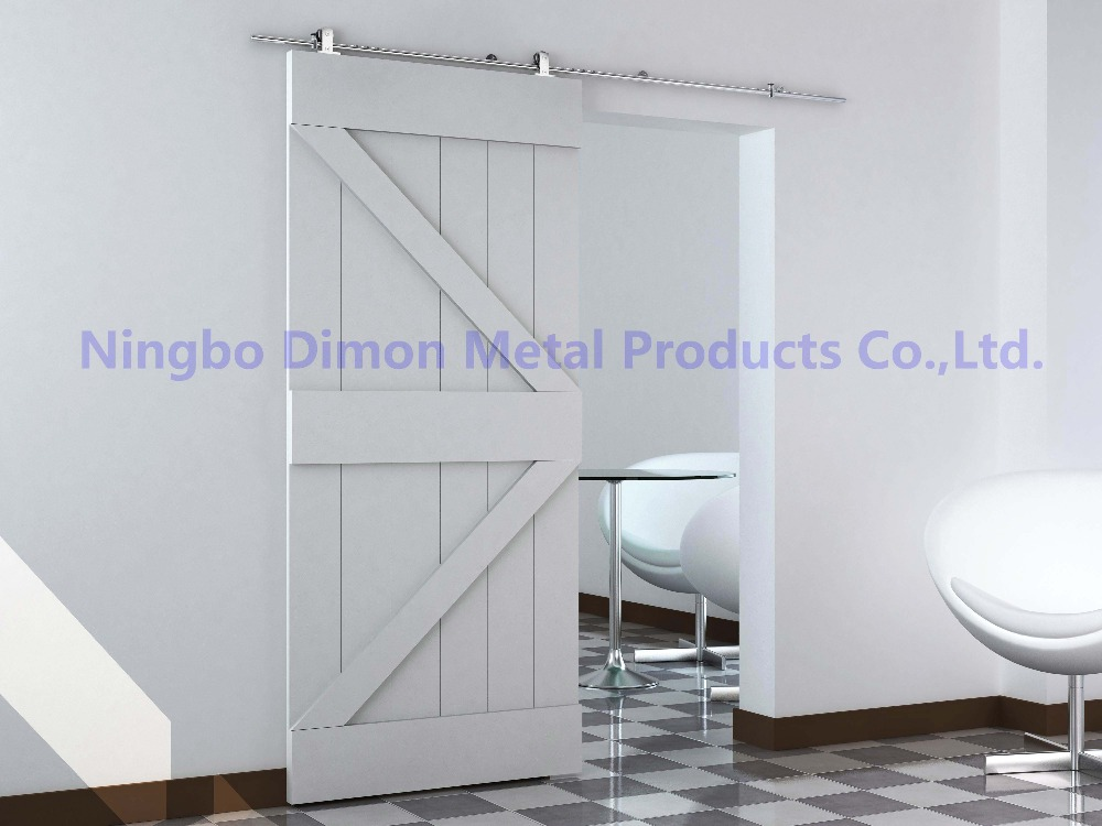 Купить с кэшбэком Free shipping Dimon stainless steel 304 high quality wood sliding door hardware DM-SDS 7101 without sliding rail