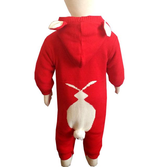 1 pc frete grátis Outono E Inverno novo bebê Macacão de Algodão Engrosse Além Disso velvet Romper do bebê Escalada roupas aTLL0071