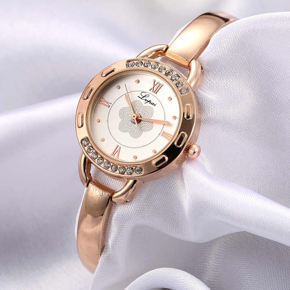 חם למכור חדש אופנה מותג שעון LVPAI נשים שעונים נירוסטה ריינסטון קוורץ גבירותיי שעון יד שמלת relogio