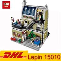 In Stock DHL Lepin 15010 Expert City Street View Shop Store Parisian Restaurant Building Kits Blocks 2418Pcs Bricks Toy