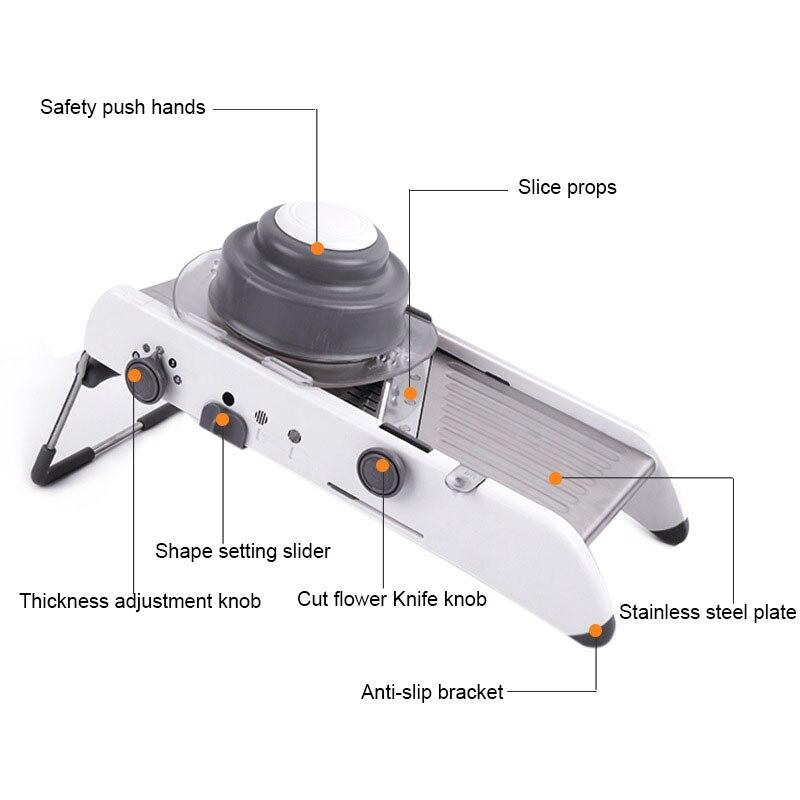 Multifunctional adjustable slicer 4