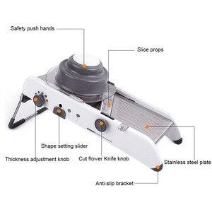 Image 4 - Mandoline trancheuse manuel légume Cutter professionnel râpe avec réglable 304 acier inoxydable lames légume cuisine outil