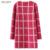 Larga floja de la Rebeca de Las Mujeres Suéteres de Punto Para Las Señoras Más El Tamaño de Rayas Cardigans 2016 Mujeres Moda Casual Tricotado