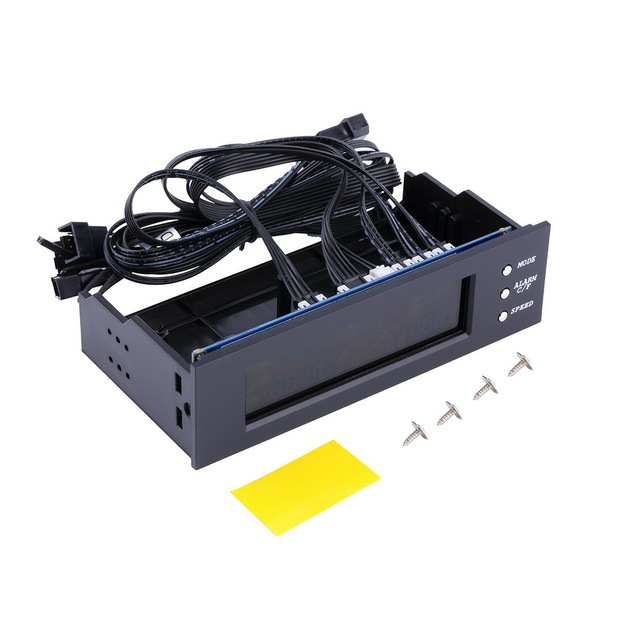 LCD Panel CPU Fan Speed Controller Temperature Display 5.25 inch PC Fan Speed Controller