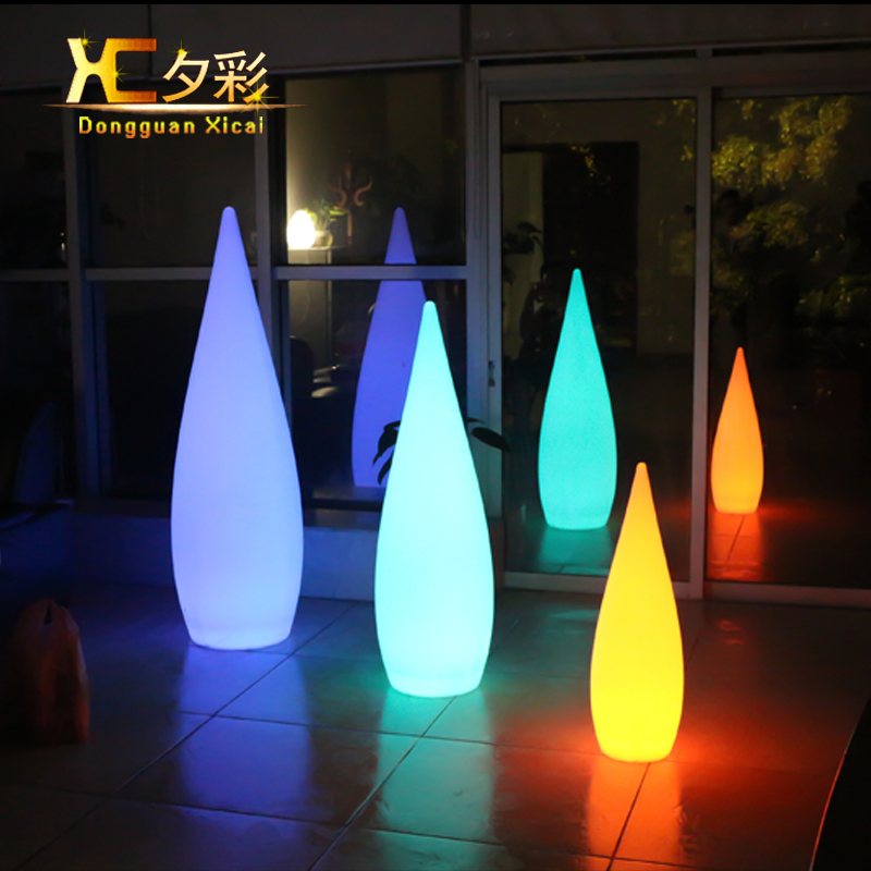 Plastic LED Floor Lamp Luminous Decor Night Light Landscape Lighting For Bar Club Garden Outdoor Lawn Swimming Pool