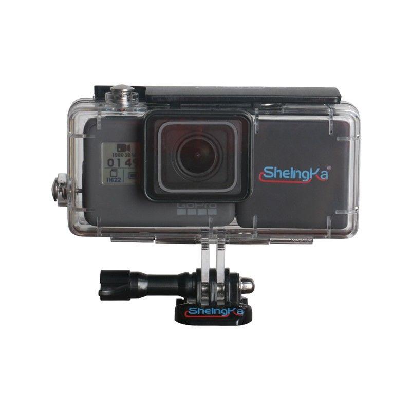 Sheingka Extended 40M Underwater Waterproof Housing Case For GoPro Hero 5 Hero 6 Battery Bacpac GoPro W/2300mAh Battery