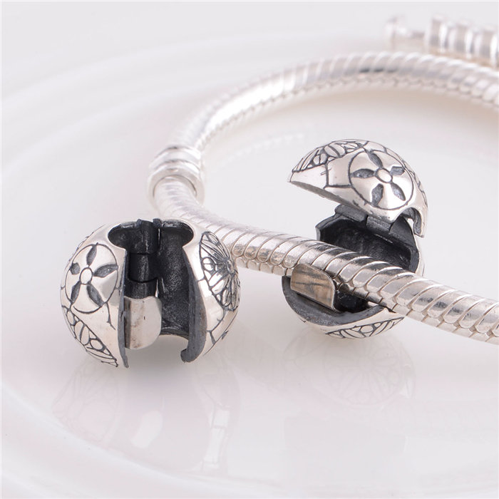S500 925 Sterling de Verrouillage Clip de Base Stopper les Perles de Charme Pour Les Bijoux Faisant Accessoires de BRICOLAGE Appropriés Pour Pandora Bracelet