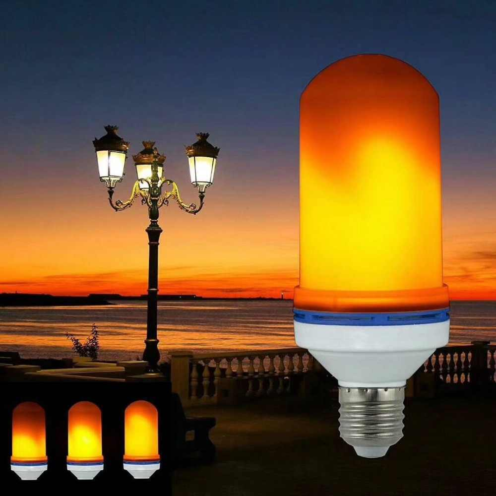 Full Model 15W 20W  E27 E26 E14 E12 Flame Bulb 85-265V LED Flame Effect Fire Light Bulbs Flickering Emulation Decor LED Lamp