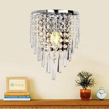 Бесплатная доставка новая современная мода стена лампы кристалл настенный светильник кровать освещения кристалл E14 arandela parede лампы Серебро Золото коричневый