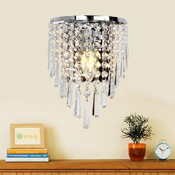 Gratis verzending nieuwe moderne mode wandlampen kristal wandlamp ...