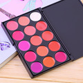Hot Selling New Professional Multicolor Beauty  Makeup 15 Colors Professional Glitter Lipstick Palette Online Lips Tint