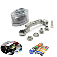 Universal Motorcycle Brake Fluid Reservoir Oil Tank have mounting kit For MV Agusta F3 675 800 F4 1000 S RR RC AGO AMG