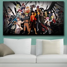 HD Anime Wall Art Canvas Japan Naruto One Piece Poster Print Hot Anime Wall Art Painting Art Pictures For Living Room Home Decor