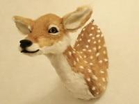 large 52x48cm artificial sika deer head model polyethylene&furs handicraft, wall pandent home decoration gift A0700