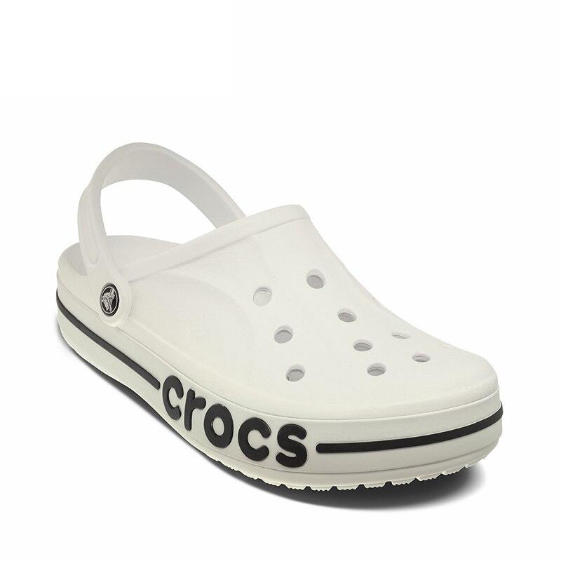 CROCS nouveau Bayaband sabot unisexe sandales de plage hommes et femmes Crocs-chaussures eau confortable respirant sandales noir bleu
