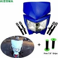 Dirt Racing Bike Naked Motorcycles S1 35w Headlight Head Lamp For Yamaha TW WR YZ XT TTR 125/200/225/250/450 Dual Sport Fairing