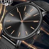 LIGE Relojes Mujer женщина часы дамские часы леди повседневное Модные женские кварцевые наручные часы водостойкое платье Zegarek Damski