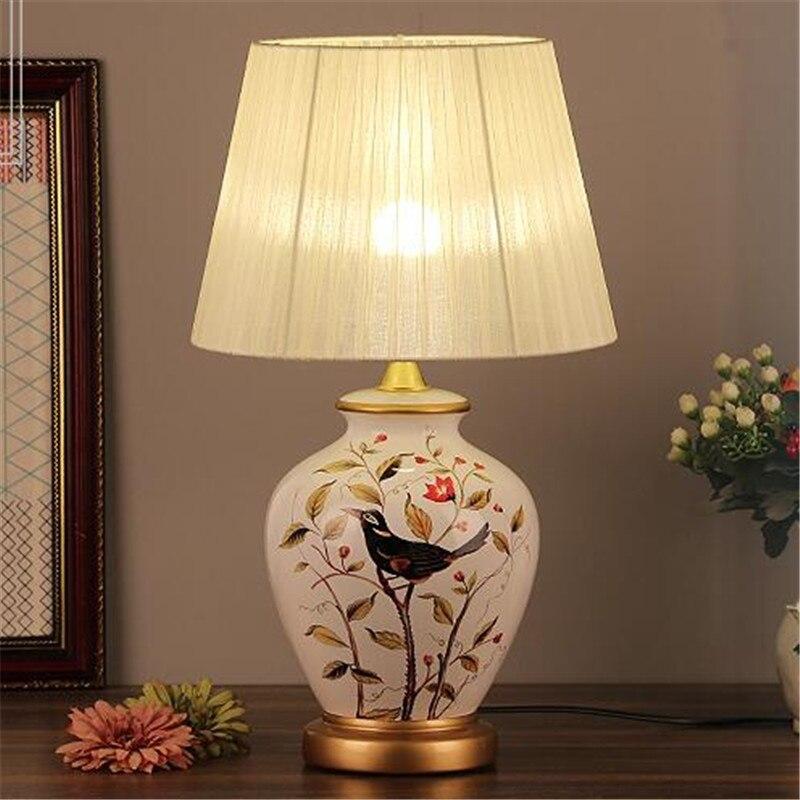 Vintage Retro Country Chinese Porcelain Ceramic Fabric E27