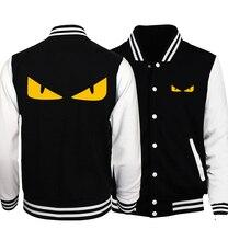 men & women hip-hop fitness tracksuits Funny Monster devil's Eye sweatshirt 2017 new arrival unisex brand baseball jackets geek