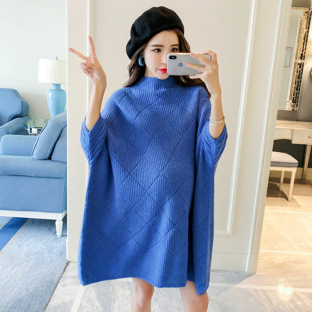 Pregnant women sweater long paragraph autumn 2018 new fashion bat sleeve loose maternity dress pregnancy period size shirt все цены