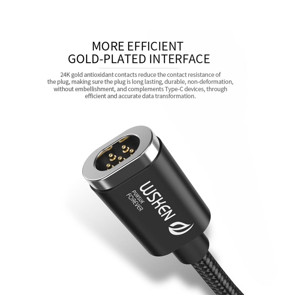 Image 5 - WSKEN Mini 2 USB Type C Magnetic Cable for Samsung S9 S8 Note 8 Hawwei USB C Type C Phone Fast Charging Data USB Charger Cable-in Mobile Phone Cables from Cellphones & Telecommunications