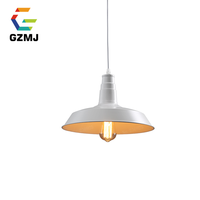 Retro Indoor Lighting Vintage Pendant Light Led Lights Iron Lampshade Warehouse Style Fixtures Restaurant Lamps In From