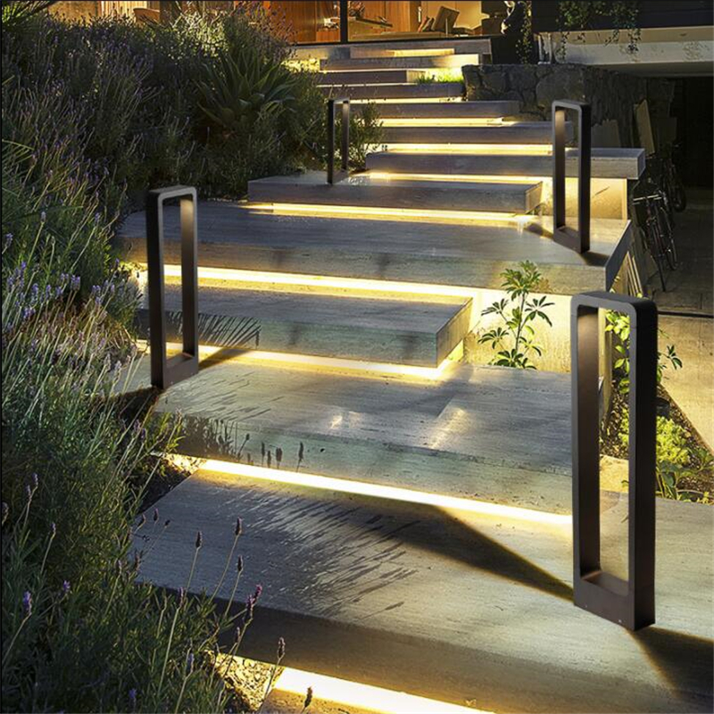 Us 435 5 33 Off Waterproof Led Lawn Lamp 10w Cob Exterior Bollard Light Outdoor Floor Lighting Garden Courtyard Road Ac85 265v In