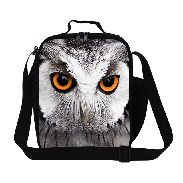 Free Shipping Animals Owl Lunch Bags Christmas Heater Lunch Box For Kids Lancheira Termica Picnic Food Bag Thermo Lunch Bag