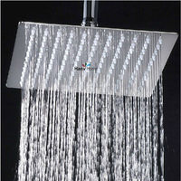 High Quality 8 Inch 10 Inch 12 Inch Chrome Stainless Steel Square Ultra Thin Shower Heads