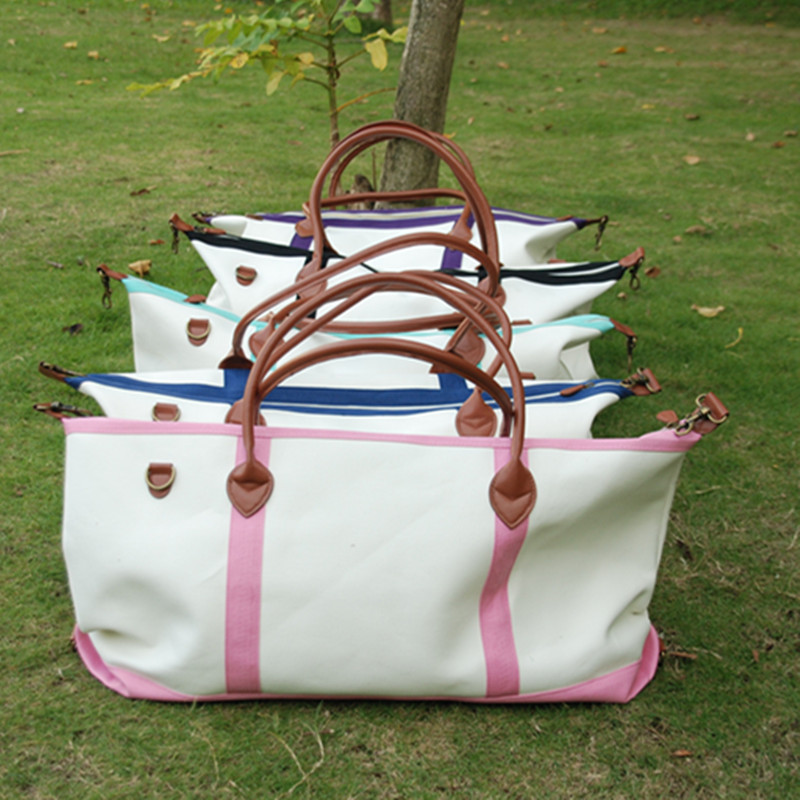 Ready In Stock Large Canvas Duffle Bags New Arrival Accessory Organizer Canvas Weekend Bag DOM 1010148