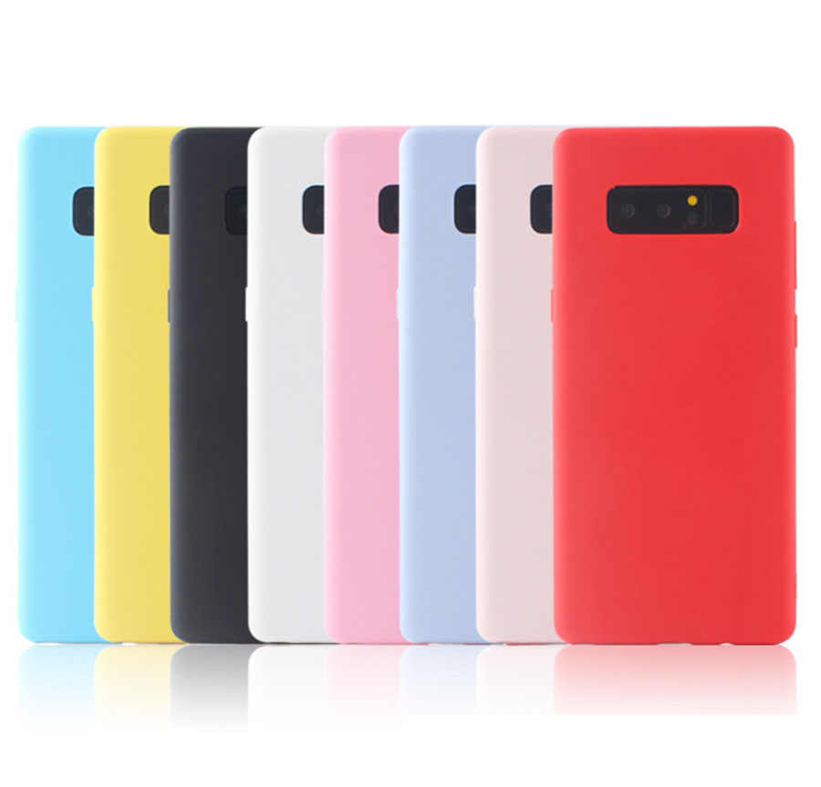 Silicon Candy Color Case for Samsung Galaxy M10 M20 S10 Note 9 J4 J6 J8 A8 A6 Plus A9 A7 2018 A750 S8 S9 S7 A5 A7 J3 J5 J7 2017