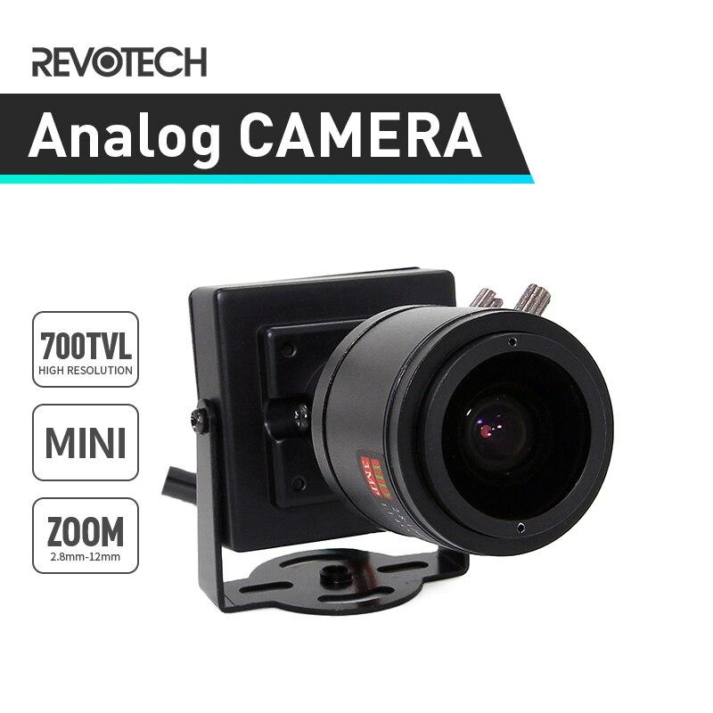"""bilder für Mini 1/4 """"CMOS 700TVL 2,8-12mm Zoom Kamera CCTV Überwachungskamera Mini Indoor Analoge Cam"""