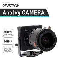Mini 700TVL 2.8-12mm Zoom CCTV Camera Sony Effio-E CCD / CMOS Security Camera Black Indoor Analog Cam