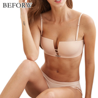 BEFORW Sexy Charming Bras Show Charm Massage Bralette Comfortable Wire Free Women Lingerie Convertible Straps Breathable