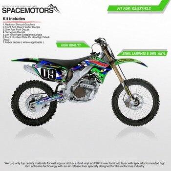 Vinilo de 3 M de la piel para moto rcycle KX KLX rxf F 85cc 100cc 250cc 450cc 2004-2006 motocross Enduro moto Cruz