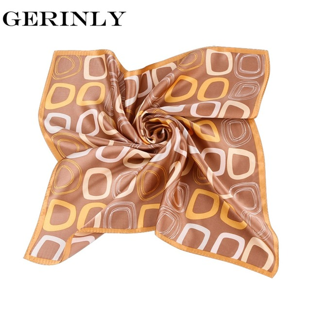 100 Silk Scarf Women Fashion Small Square Neck Scarves Luxury Brand