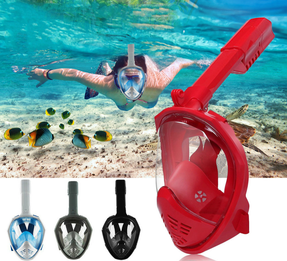 2018 Underwater Scuba Anti Fog Full Face Diving Mask Snorkeling Set Respiratory Masks Safe And Waterproof Water Sports Equipment