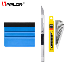 3pcs/set Car Squeegee Scraper Wrapping Tools Vehicle Vinyl Wrap Film Sticker Installation Kit Cutter Knife Auto Car Accessories