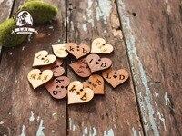 Деревянные метки, Именные Бирки, пользовательские теги, деревянный выгравированы теги, лазерная резка логотип, сердце label (WDBQ03)